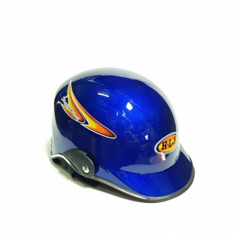 Шлем  мотоциклетный Helmet H-L-N маленьк синий