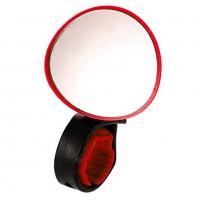 Зеркало X95411 BC-BM101 красное с силиконовым крепежом на руль, рег. угла
