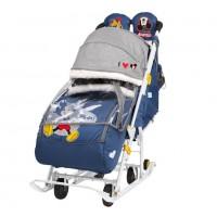 Санки  коляска DB2/4 Baby2 т-синий Микки Маус
