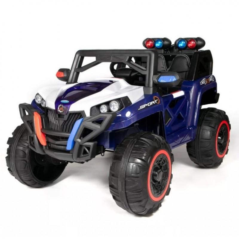 Электроквадроцикл детский 47067  (Р) с монитором mp4 полный привод синий