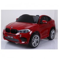 Электромобиль детский BMW X6M 45552  двухместный красный глянец