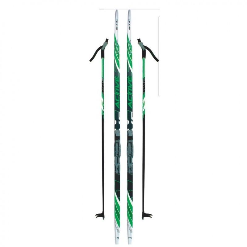 Лыжный комплект NNN креп STC 185см (4)+пал+кр