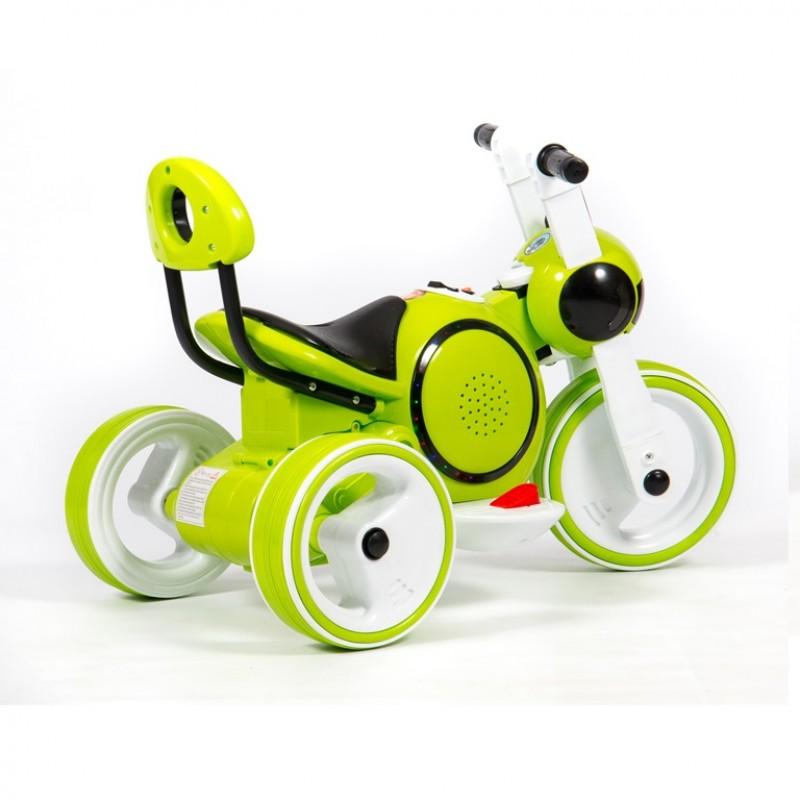 Электромотоцикл детский Y-MAXI 45569 (Р) зеленый, глянцевый