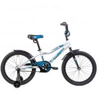 Велосипед 20 Novatrack 205ACRON.WT9 , алюм. рама , тормоз ножной, короткие крылья  белый