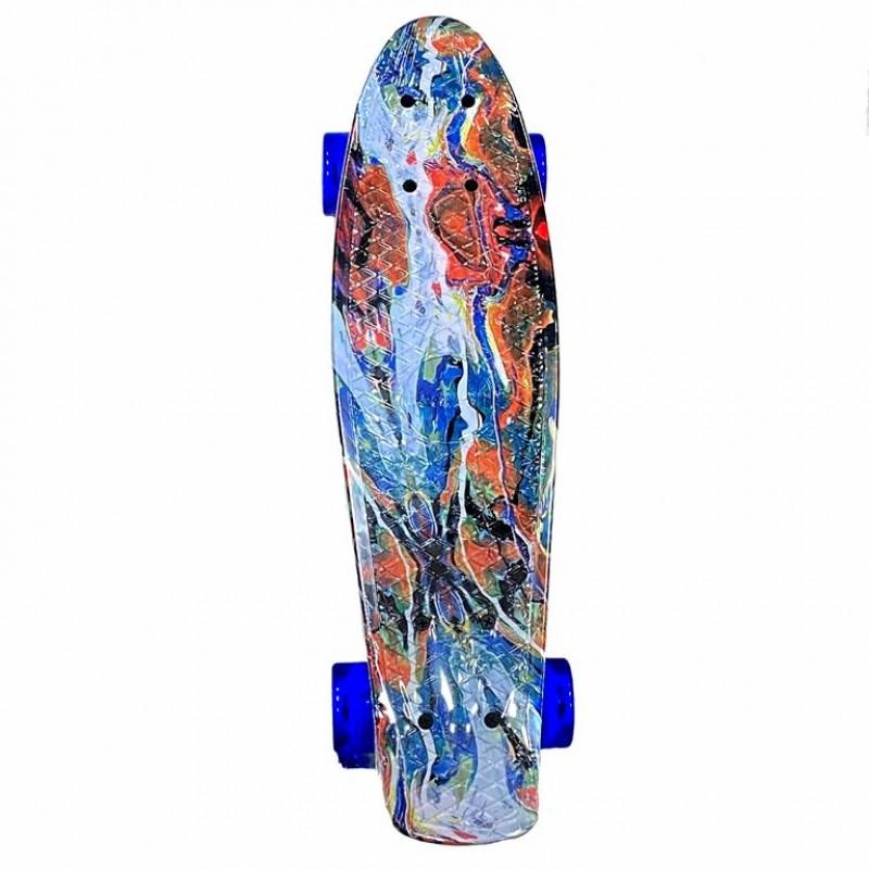 Скейтборд  Explore Ecoline BORA/6 пенниборд КРАСКИ колеса синие