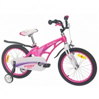 Велосипед 18 Bibitu PONY розовый (МАГНИЕВЫЙ СПЛАВ-облегчённая рама)