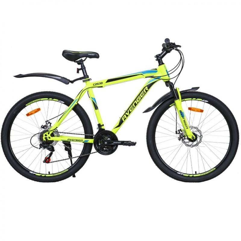 Велосипед 26 Avenger C263D жёлтый неон/синий ,19