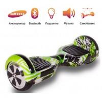 Гироскутер  6,5 Smart Balance Wheel Зелёный Граффити Музыка + Самобаланс Whell new