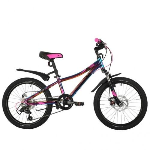 Велосипед 20 Novatrack AH6D.KATRINA.GVL21 6ск. фиолетовый (цв. бензин)