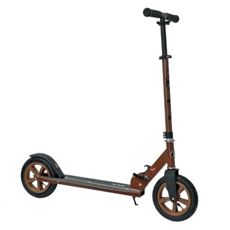 Самокат Bibitu CROSS SKL-037-AWS, коричневый, надувные колеса