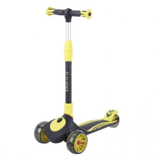 Детский самокат Tech Team Buggy цвет: желта-чёрный 2021 1/4