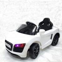 Электромобиль детский GS5199W белый  2*6V4,5Ah р-у, крас mp3, свет, 84*41*47 см