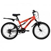 Велосипед 20 Novatrack SS6V.TITANIUM.OR20  6 ск.+ аморт оранж