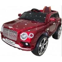 Электромобиль детский Bentley 45656 вишневый, кожанный салон 12в р-у откр.дв кол.рез