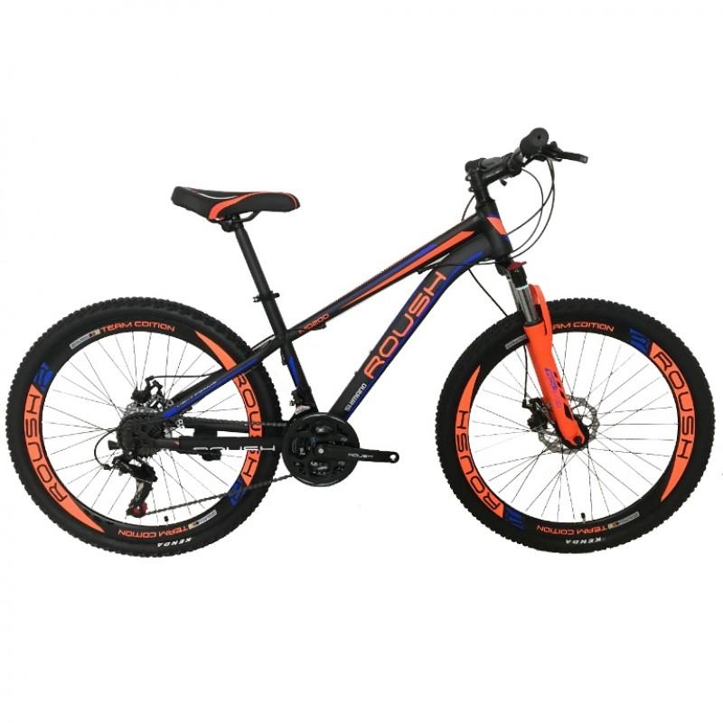 Горный велосипед 26 Roush 26MD200-1 синий/оранжевый матовый