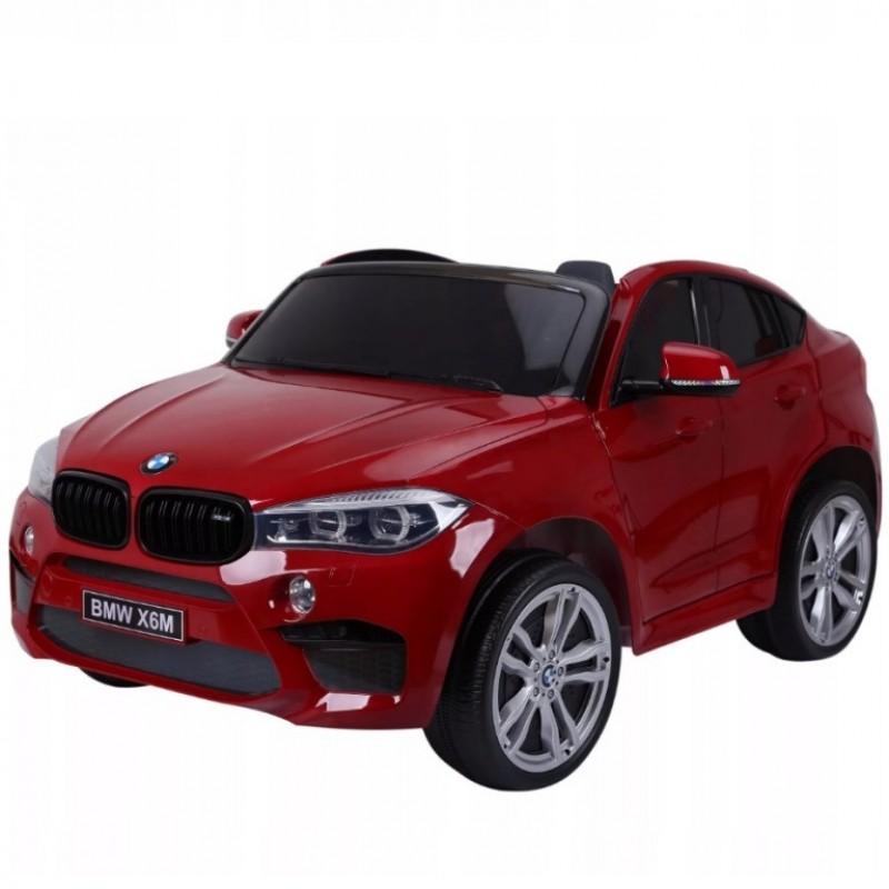 Электромобиль детский BMW X6M  (JJ2168) двухместный вишнёвый глянец