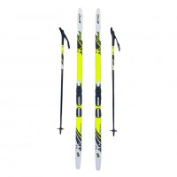 Лыжный комплект NNN креп STC 140см (4)+пал+кр степ
