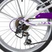 Велосипед 20 Novatrack SH6V.BUTTERFLY.VL9  , 6 скоростей ,бело-фиолетовый