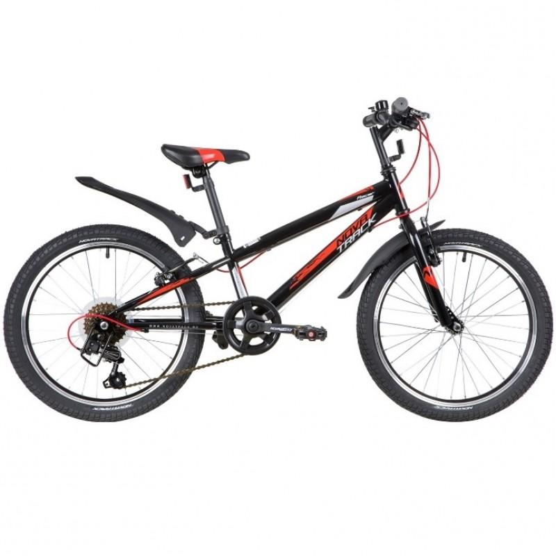 Велосипед 20 Novatrack SH6V.RACER.BK20 2020  6 скоростей черный