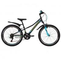 Велосипед 24 Novatrack SH18V.Valiant.12BK9 чёрн. 18ск.
