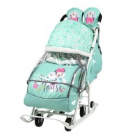 Санки  коляска DB2/2 Baby2 мятный Микки Маус