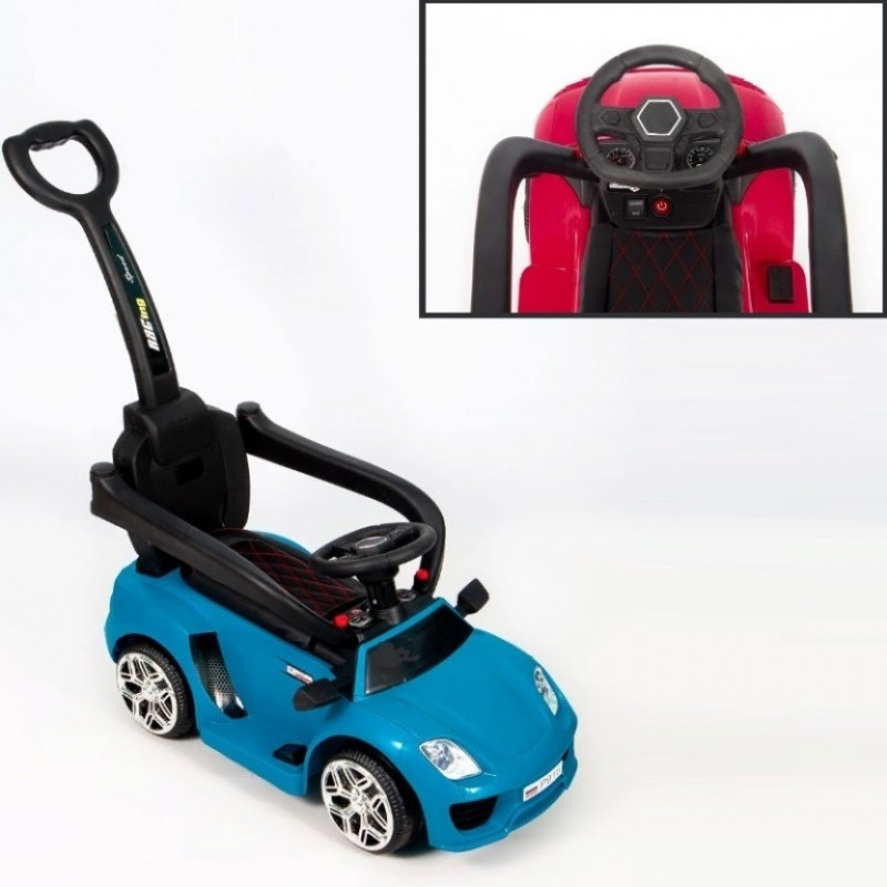 Каталка  Porshe Р918 толокар-электромобиль (3 в 1) 50403 (Р) синий