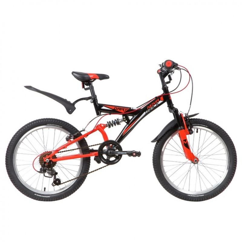 Велосипед 20 Novatrack SS6V.DART.BK20  6ск. черный АКЦИЯ!!!