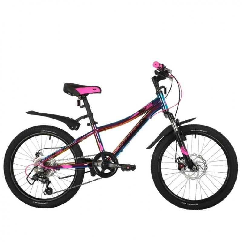 Велосипед 20 Novatrack AH6D.KATRINA.GVL21 6ск. фиолетовый (цв. бензин) АКЦИЯ!!!