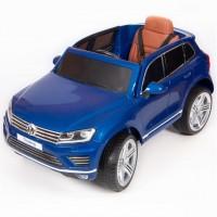 Электромобиль детский Volkswagen Touareg 45516 (Р) (Лицензионная модель) синий-глянцевый