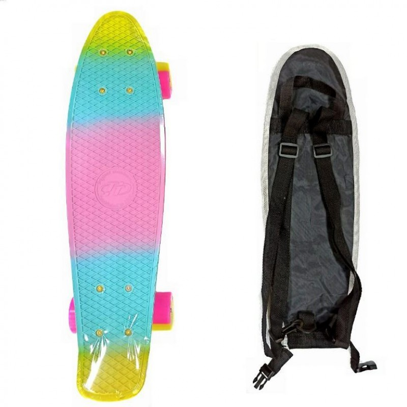 Скейтборд  ТТ Multicolor 22 pink/yellow 1/4 TLS-401M
