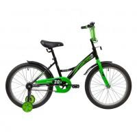 Велосипед 20 Novatrack Strike.BKG20 чёрный-зелёный