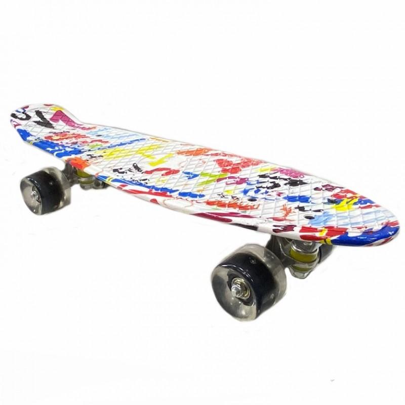 Скейтборд  JC-003 22 краски в белом
