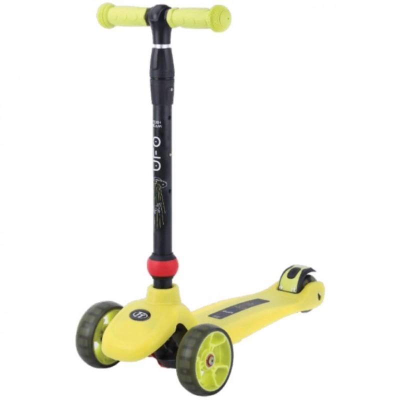 Детский самокат Tech Team Ufo желтый 2021 1/4