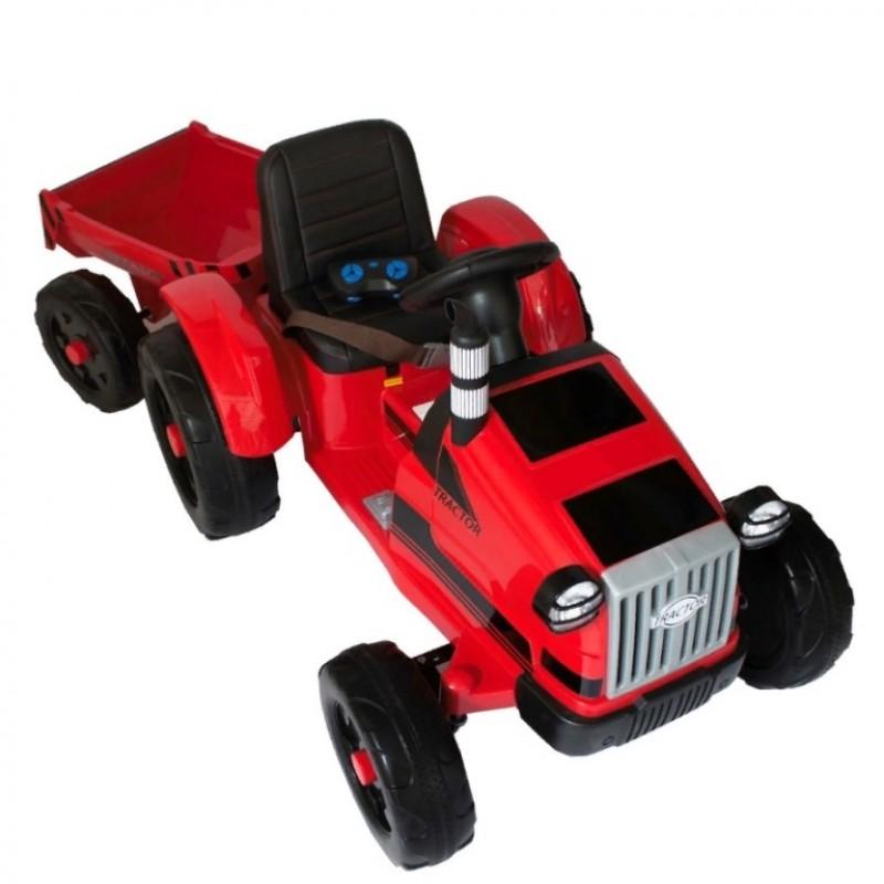 Детский электромобиль трактор TR 99,  50363 с прицепом красный (Р)