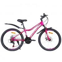 Велосипед 24 Avenger C243DW, розовый неон/серый