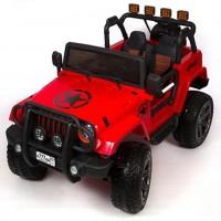Электромобиль детский Jeep Wrangler45455 (Р) полный привод (4х4). красный
