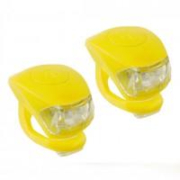 Фонари мягкое крепление, пластик, 2 светодиода, желт.,(2шт.в 1 упак.)