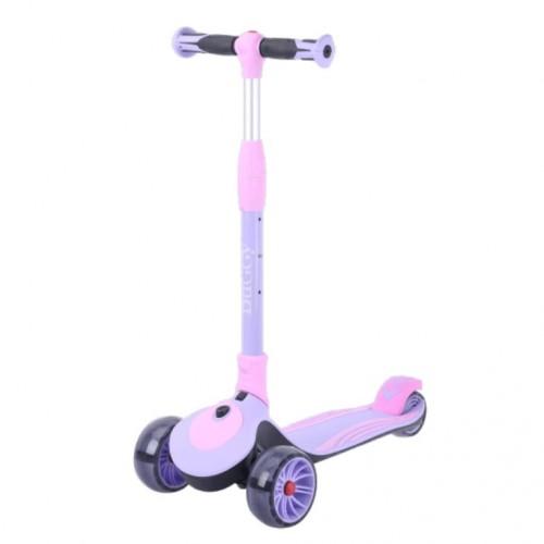 Детский самокат Tech Team Buggy цвет: фиолетовый 2021 1/4