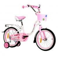 Велосипед 14 Nameless Lady, белый/розовый