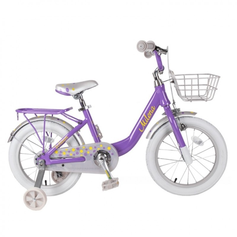 Велосипед 16  Tech Team Milena фиолетовый (алюминий),корзина