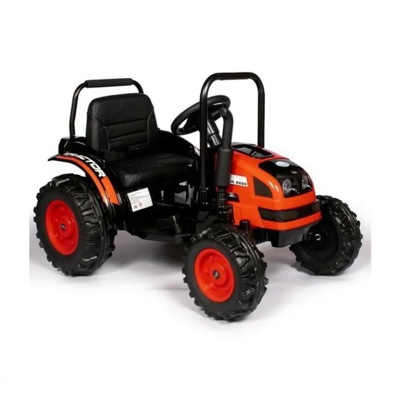 Детский электромобиль трактор TR001,  51628 с прицепом красный (Р)