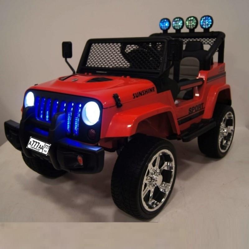 Электромобиль детский Jeep 44464 (4х4)  красный (P)