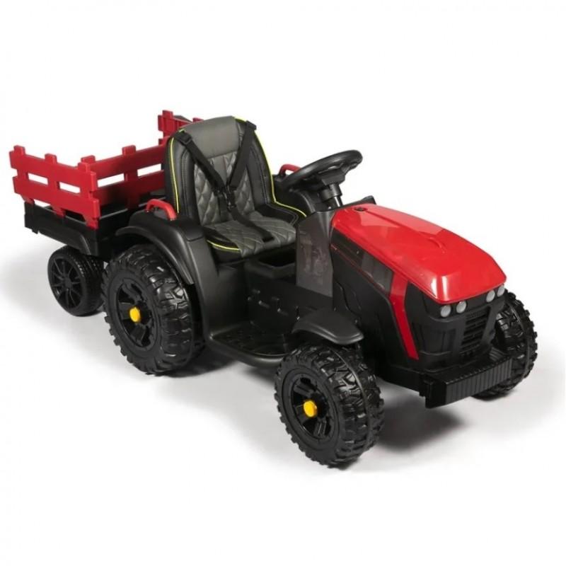 Детский электромобиль трактор TR 777,  50367 с прицепом красный (Р)
