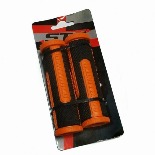 Грипсы Х76785 Novatrack, 110мм, черно-оранжевый (РТ1585С)