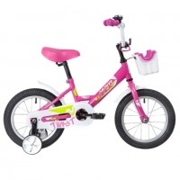 Велосипед 12 Novatrack Twist розовый, тормоз нож., корот.крылья, полная защита цепи, перед.корзина
