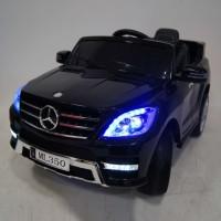 Электромобиль детский Mercedes-Benz ML350 38056 черный глянец, 12в,кожанный салон,р-у