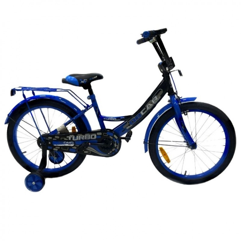 Велосипед 20 OSCAR TURBO Black-Blue (черный/синий)  АКЦИЯ!!! 2021