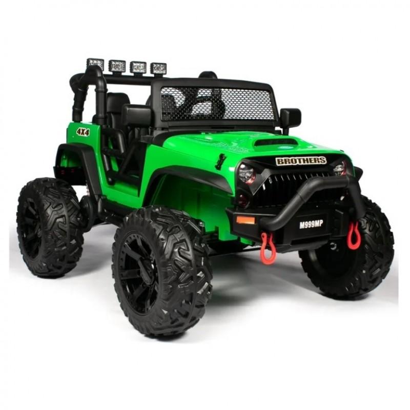 Электромобиль детский Jeep Wrangler M999MP  51701 (P) , зелёный глянец