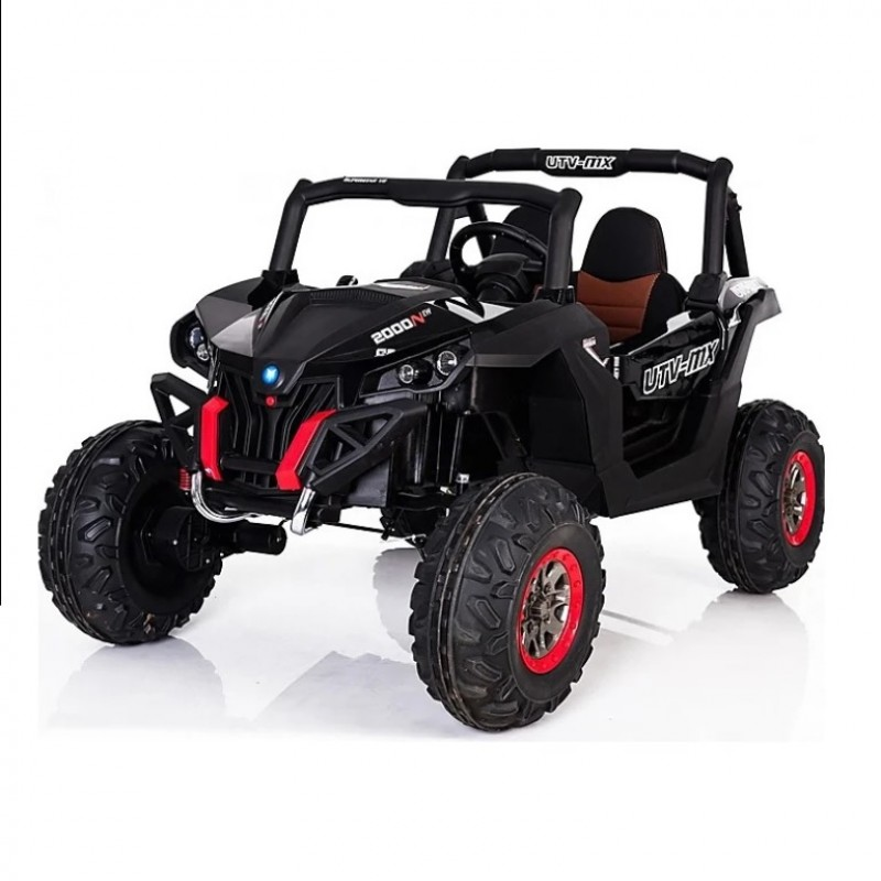 Электроквадроцикл детский 47075 (Р) полный привод чёрный глянец