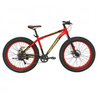 Велосипед 26 Fat bike Nameless J6800DF-RD/YL-18 , красный/жёлтый